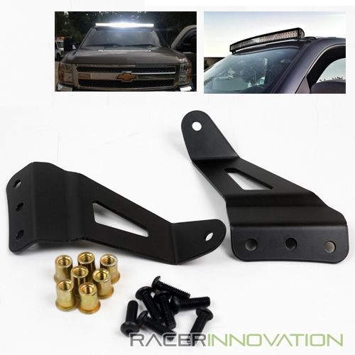 Details About 50 Curve 288w Led Light Bar Roof Top Mounting Bracket For 07 13 Chevy Avalanche