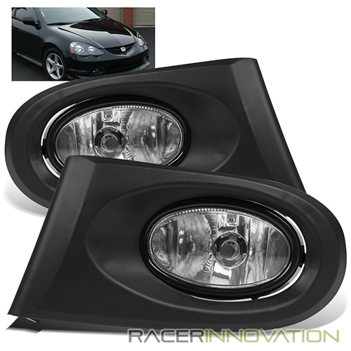 For 2002-2004 Acura RSX DC5 Clear LH/RH Fog Lights Bumper