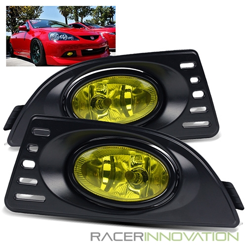 For 2005-2006 Acura RSX Integra DC5 JDM Yellow Bumper Driving Fog Lights Lamp w//Switch Bulbs /& Wiring