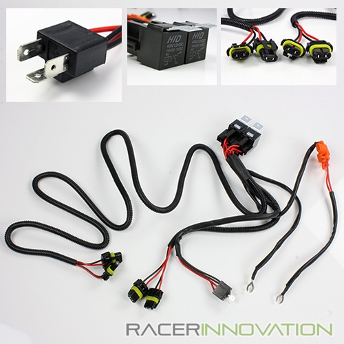 H49003 hid conversion kit dual relay wiring harness bi xenonhi low image is loading h4 9003 hid conversion kit dual relay wiring asfbconference2016 Image collections