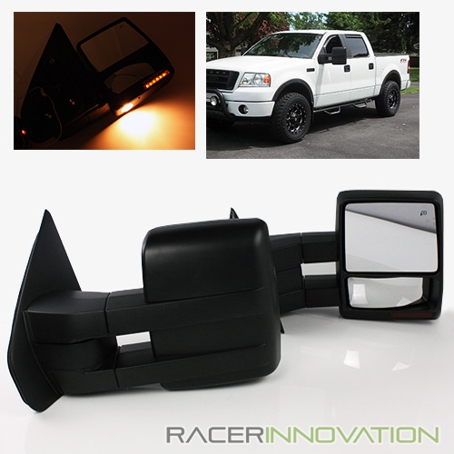 For 04 14 Ford F150 Power Heated Extendable Telescoping Trailer