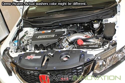 20PC M6x18mm Orange Anodized Fender//Bumper//Engine Bay Washer//Bolt//Screw Dress Up